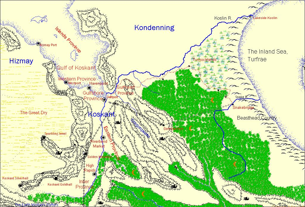 Map of Koskant